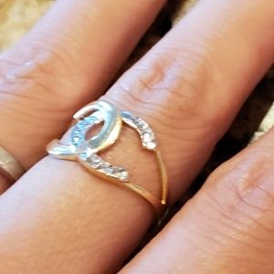 Channel style ring real gold